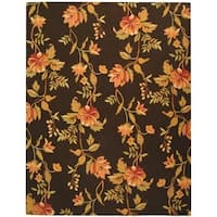 "Safavieh Hand-hooked Garden Vines Brown Wool Rug - 7'-9"" x 9'-9"""