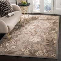 """Safavieh Hand-hooked Patches Green Wool Rug - 5'-3"""" X 8'-3"""""""
