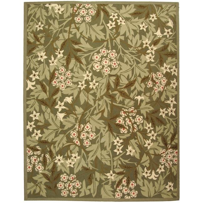 Safavieh Hand-hooked Patches Green Wool Rug - 7'9 x 9'9