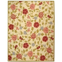 """Safavieh Traditional Hand-Hooked Garden Ivory Wool Area Rug - 3'-9"""" x 5'-9"""""""