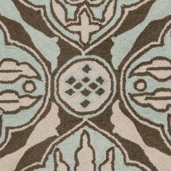 Safavieh Hand-hooked Chelsea Brown/ Blue Wool Runner (2'6 x 4')