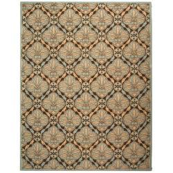 Safavieh Hand-hooked Chelsea Brown/ Blue Wool Rug (5'3 x 8'3)