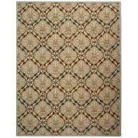 Safavieh Hand-hooked Chelsea Brown/ Blue Wool Rug (5'3 x 8'3) - 5'3 x 8'3