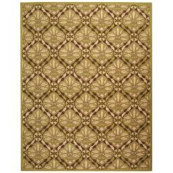Safavieh Hand-hooked Chelsea Brown/ Green Wool Rug (7'9 x 9'9)