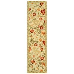 Safavieh Hand-hooked Eden Ivory Wool Runner (2'6 x 12')