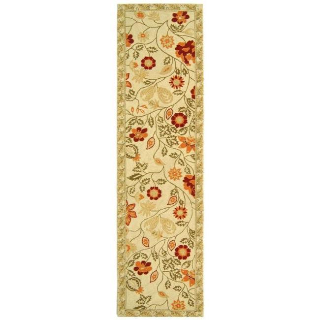 Safavieh Hand-hooked Eden Ivory Wool Runner (2'6 x 6')