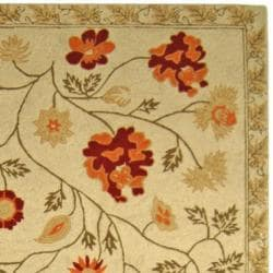 Safavieh Hand-hooked Eden Ivory Wool Runner (2'6 x 6') - Thumbnail 1