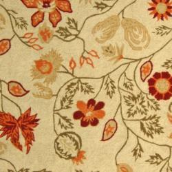 Safavieh Hand-hooked Eden Ivory Wool Runner (2'6 x 6') - Thumbnail 2