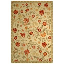 Safavieh Hand-hooked Eden Ivory Wool Rug (5'3 x 8'3)