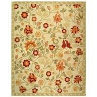 Safavieh Hand-hooked Eden Ivory Wool Rug - 7'9 x 9'9