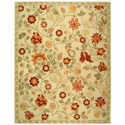 Safavieh Hand-hooked Eden Ivory Wool Rug (8'9 x 11'9) - Thumbnail 0