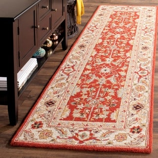 Safavieh Hand-hooked Tabriz Rust/ Ivory Wool Runner (2'6 x 10')