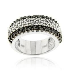 DB Designs Sterling Silver 1/3ct TDW Black Diamond Ring