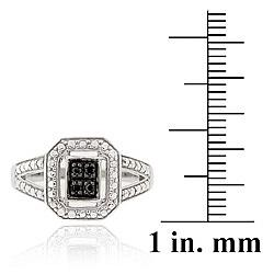 DB Designs Sterling Silver 1/6ct TDW Black Diamond Ring