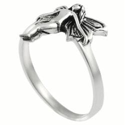 Journee Sterling Silver Fairy Ring - Thumbnail 1