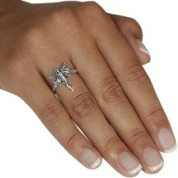 Journee Sterling Silver Fairy Ring - Thumbnail 2