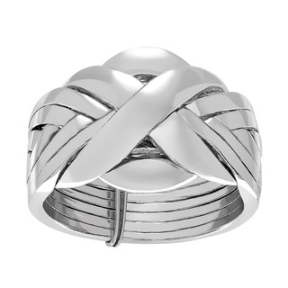 Sterling Silver Eight-piece Puzzle Ring
