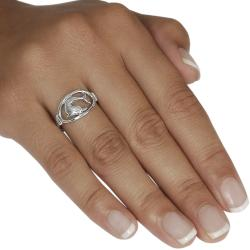 Journee Collection  Sterling Silver Dolphin in Oval Ring - Thumbnail 2
