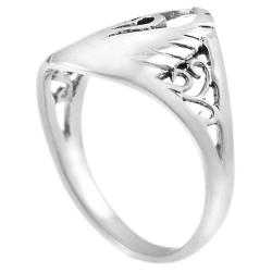 Journee Collection  Sterling Silver Swan Ring - Thumbnail 1