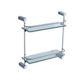 Fresca Ottimo 2-tier Chrome Glass Shelf