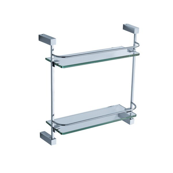Fresca Ottimo 2-tier Chrome Glass Shelf