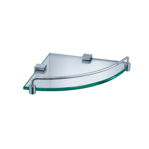 Fresca Corner Glass/ Chrome Shelf