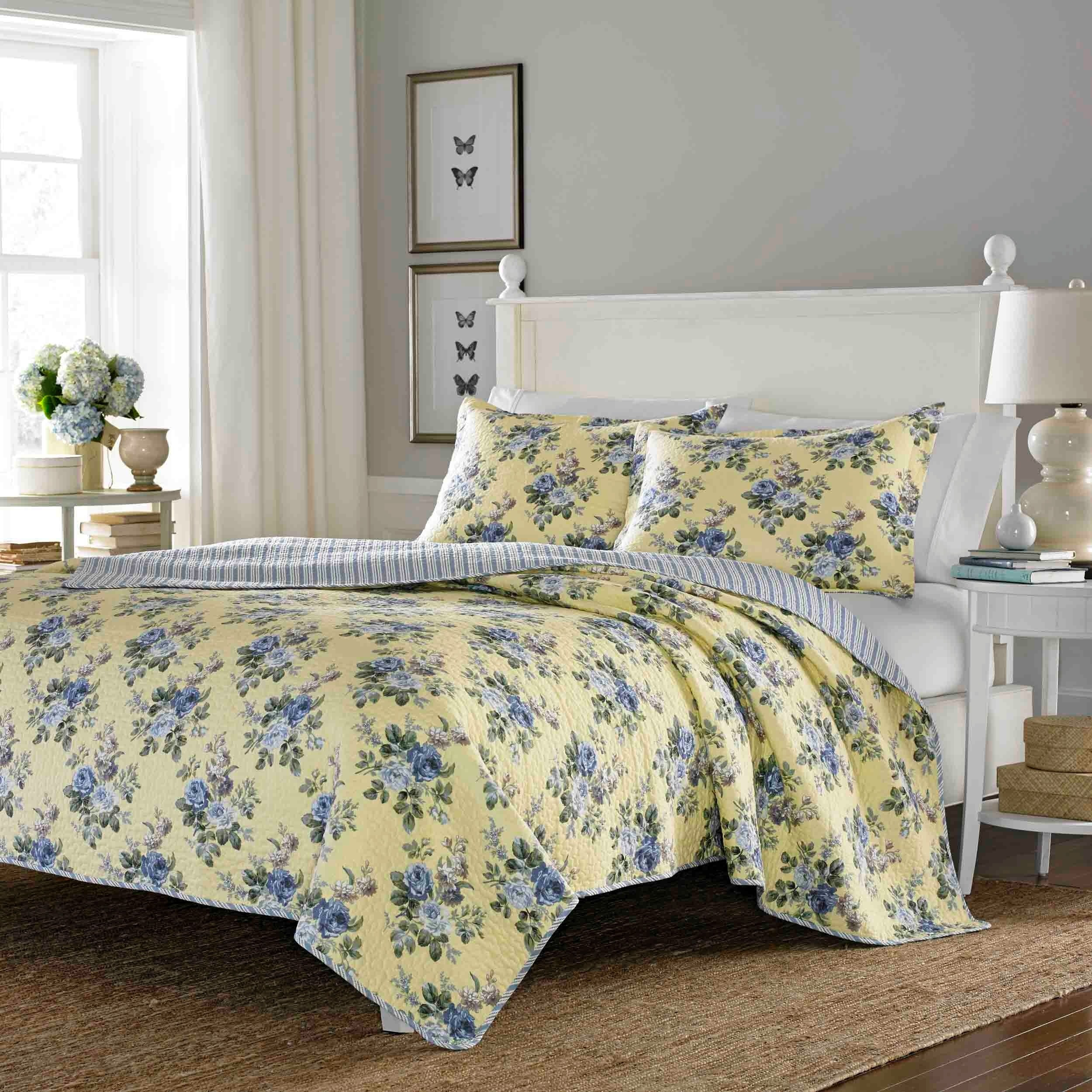 Laura Ashley Linley Reversible 3-piece Full/ Queen-size Q...