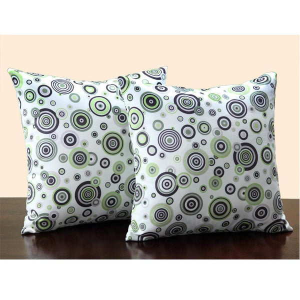 Tribecca Home Bubble Print 18-inch Throw Pillows (Set of 2)
