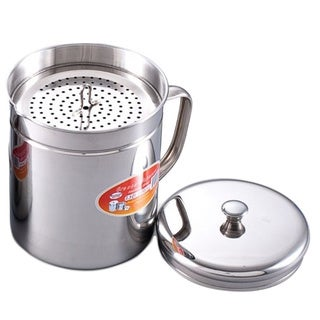 Cook N Home Stainless Steel 1.5-quart Oil Strainer Storage Container