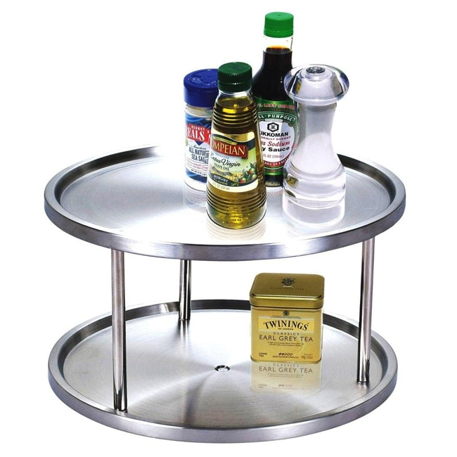 Cook N Home Stainless Steel 2-tier Lazy Susan