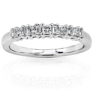 Annello by Kobelli 14k White Gold 1/4ct TDW Diamond Wedding Band (H-I, I1-I2)