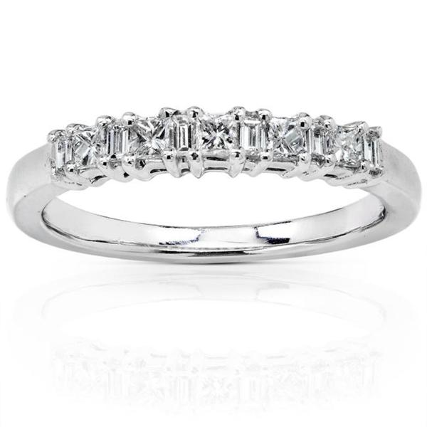 Annello by Kobelli 14k White Gold 1/4ct TDW Diamond Wedding Band (H-I, I1-I2)