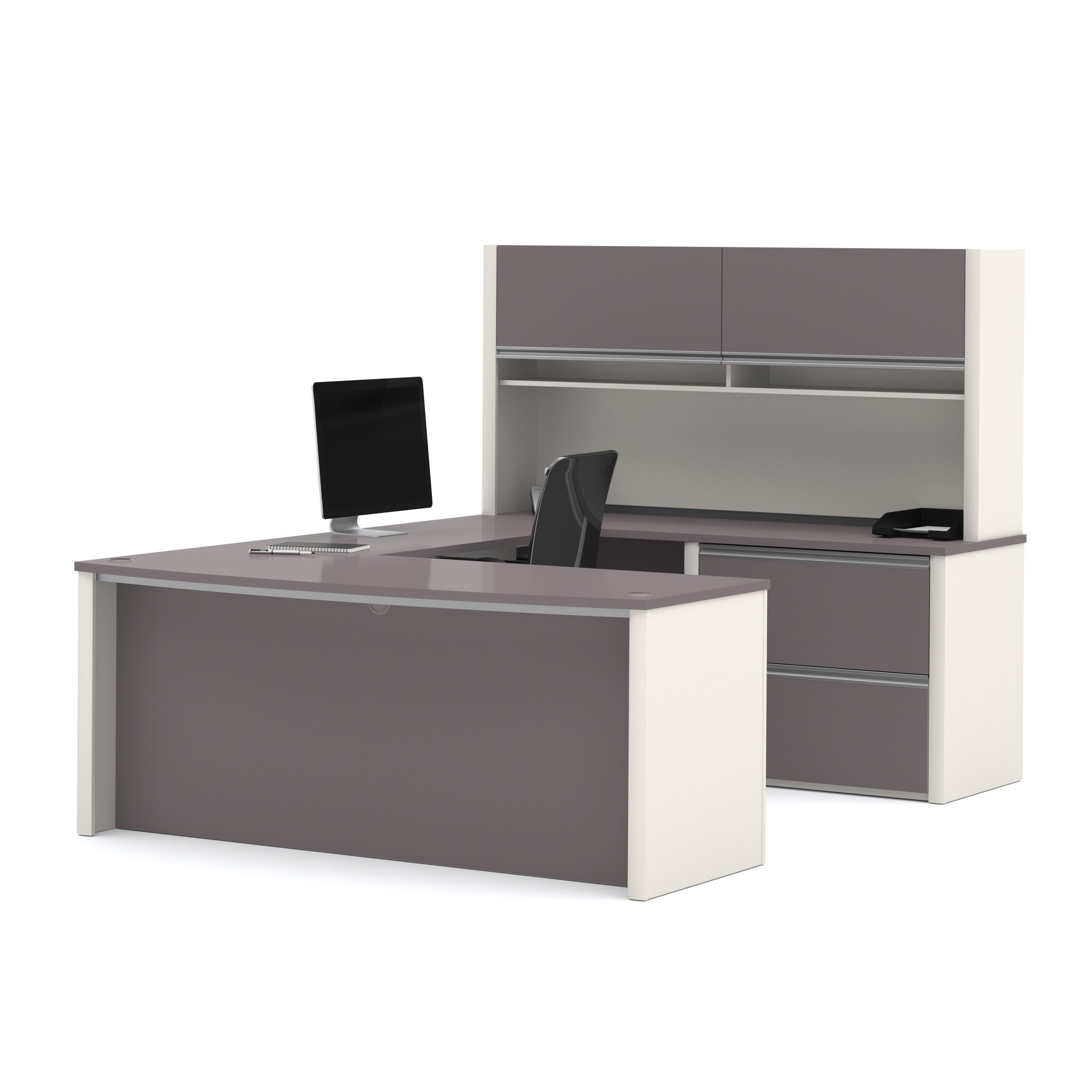 2 Piece Set Including A L Shaped Desk And A Lateral File Cabinet Connexion By Bestar Mimbarschool Com Ng