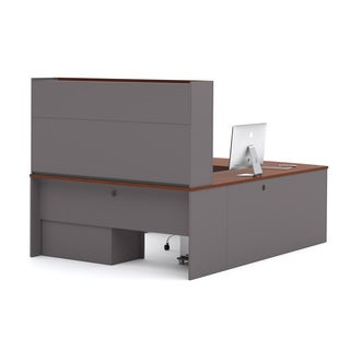 Bestar Connexion U-shape Desk with Hutch