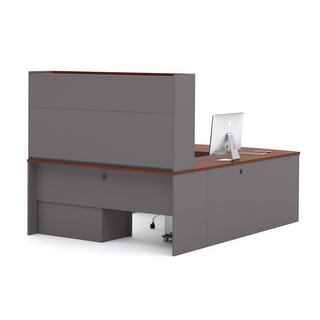 Bestar Connexion U Shape Desk With Hutch