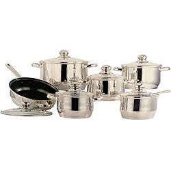 Concord 12-piece Heavy-duty 18/10 Stainless Steel Cookware Set