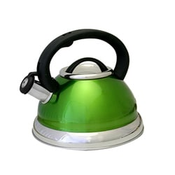 Alpine Green Stainless Steel Whistling Tea Kettle