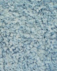 Soft Cotton Blue Shag Rug (3'6 x 5'6) - Thumbnail 1