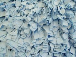 Soft Cotton Blue Shag Rug (3'6 x 5'6) - Thumbnail 2