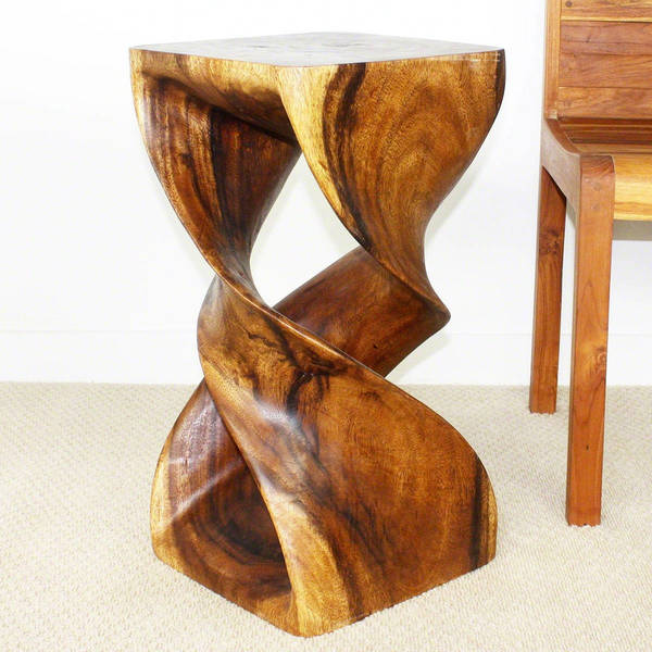 Handmade Wooden Double Twist Stool (Thailand) - Free Shipping Today - Overstock.com - 13050780 & Handmade Wooden Double Twist Stool (Thailand) - Free Shipping ... islam-shia.org