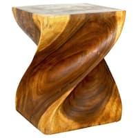 Handmade Wooden Big Twist Stool (Thailand)