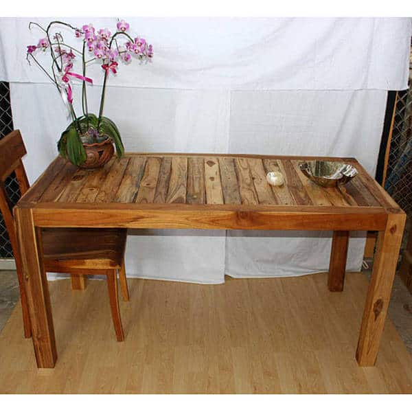 Shop Handmade Teak Wood Kitchen Table (Thailand) - Free ...