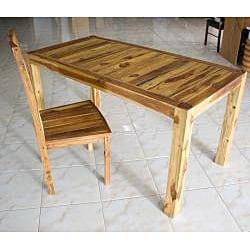 Hand-inlayed Teak Wood Kitchen Table (Thailand)