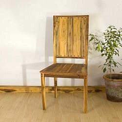 Teak Wood Tung Oil Finish Inlaid Dining Chair (Thailand)