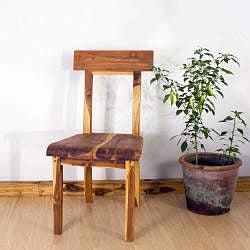 Teak Wood Tung Oil Finish Open Back Dining Chair (Thailand) - Thumbnail 1