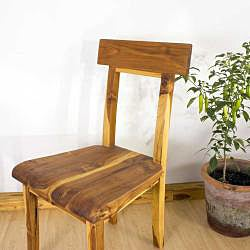 Teak Wood Tung Oil Finish Open Back Dining Chair (Thailand) - Thumbnail 2