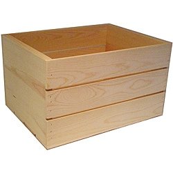 Heavy-duty 16-inch Unfinished Pine Crate