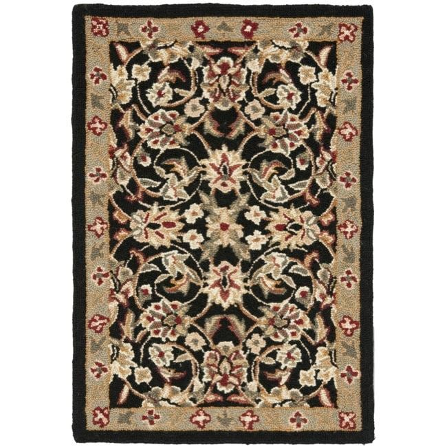 Safavieh Hand Hooked Chelsea Tabriz Black Ivory Wool Rug