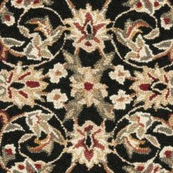Safavieh Hand-hooked Chelsea Tabriz Black/ Ivory Wool Rug (1'8 x 2'6)