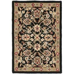 Safavieh Hand-hooked Chelsea Tabriz Black/ Ivory Wool Rug - 1'8 x 2'6